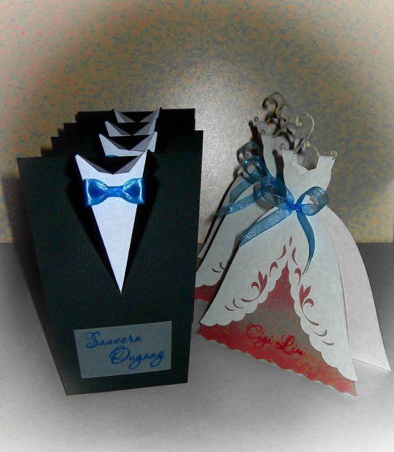 10 pcs Bridal Wedding Invitations \