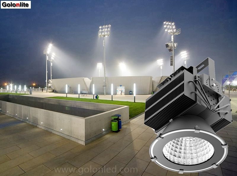 Outdoor Led Sport Court Lighting 500w To Replace 2000w Mhl 5 Years Warranty High Lumens Energy Saving Out Led Flood Lights Led Parking Lot Lights Flood Lights