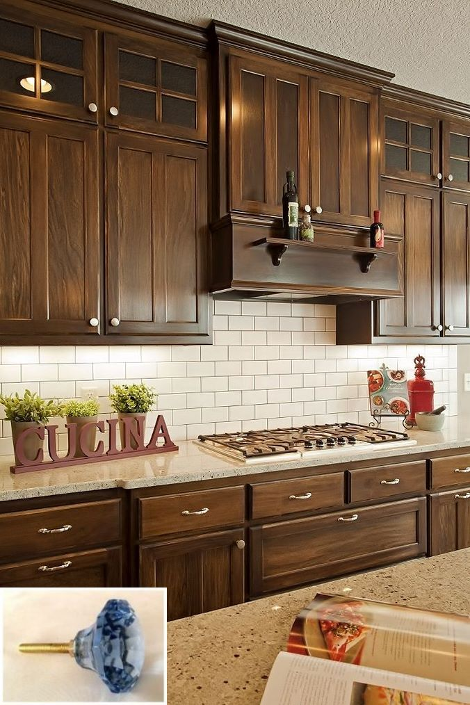 Dark, light, oak, maple, cherry cabinetry and wooden ...