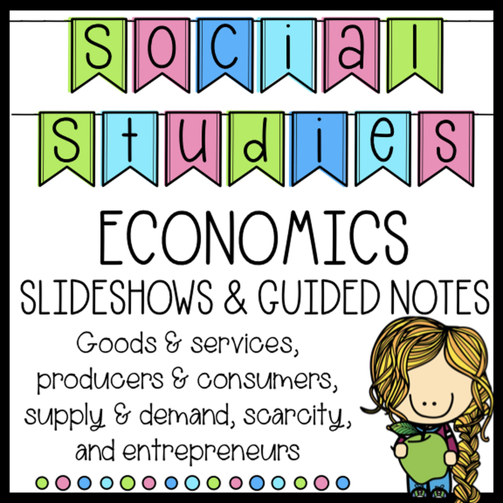 Distance Learning Five Social Studies Economics Lessons And Guided Student Notes Economics Lessons Social Studies Worksheets Interactive Notebooks Social Studies