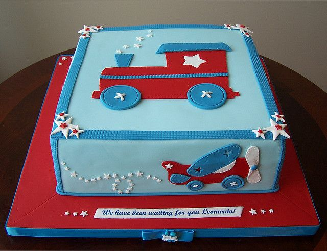 Train Baby Shower Cake Part - 49: Plane,Trains And Automobiles Cake.cute Idea For A Boy. Car Baby Showers ...