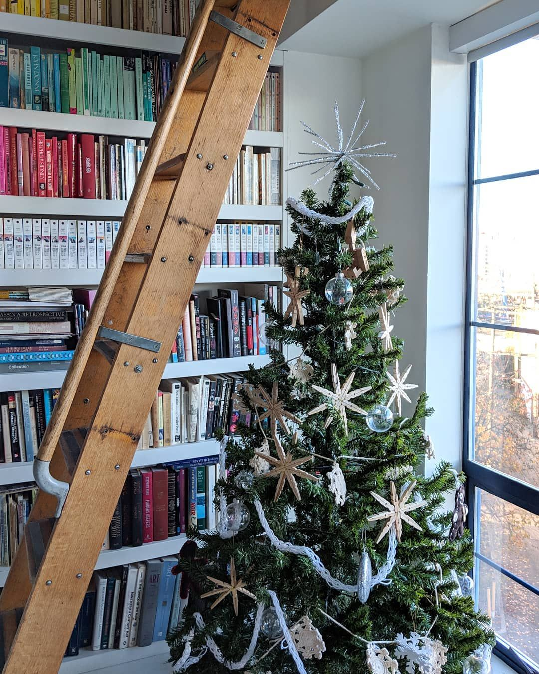 loft library ready for Christmas. Vancouver, BC ...