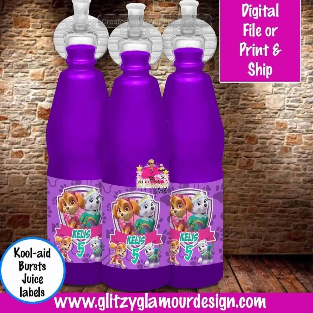 Skye And Everest Paw Patrol Kool Aid Bursts Juice Everest Paw Patrol Paw Patrol Skye Paw Patrol Party