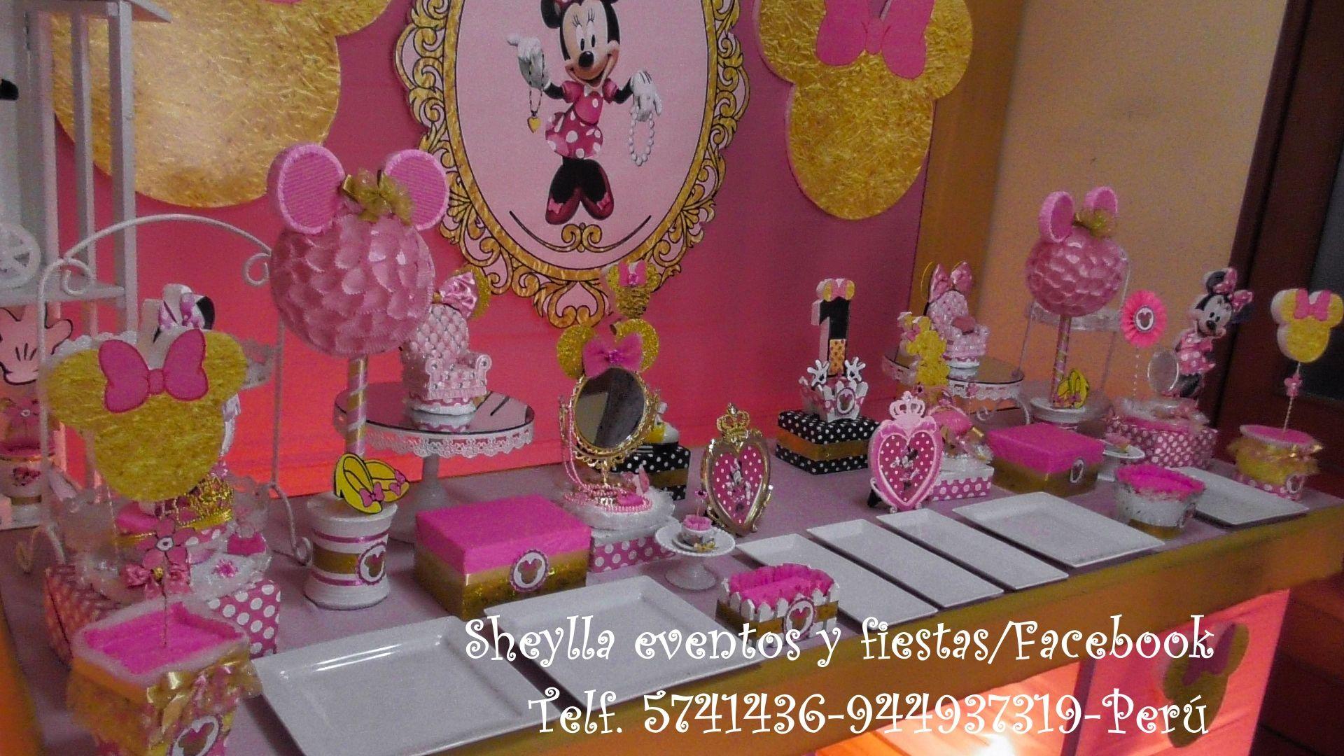 Minnie gold decoraci n fiesta infantil cumplea os