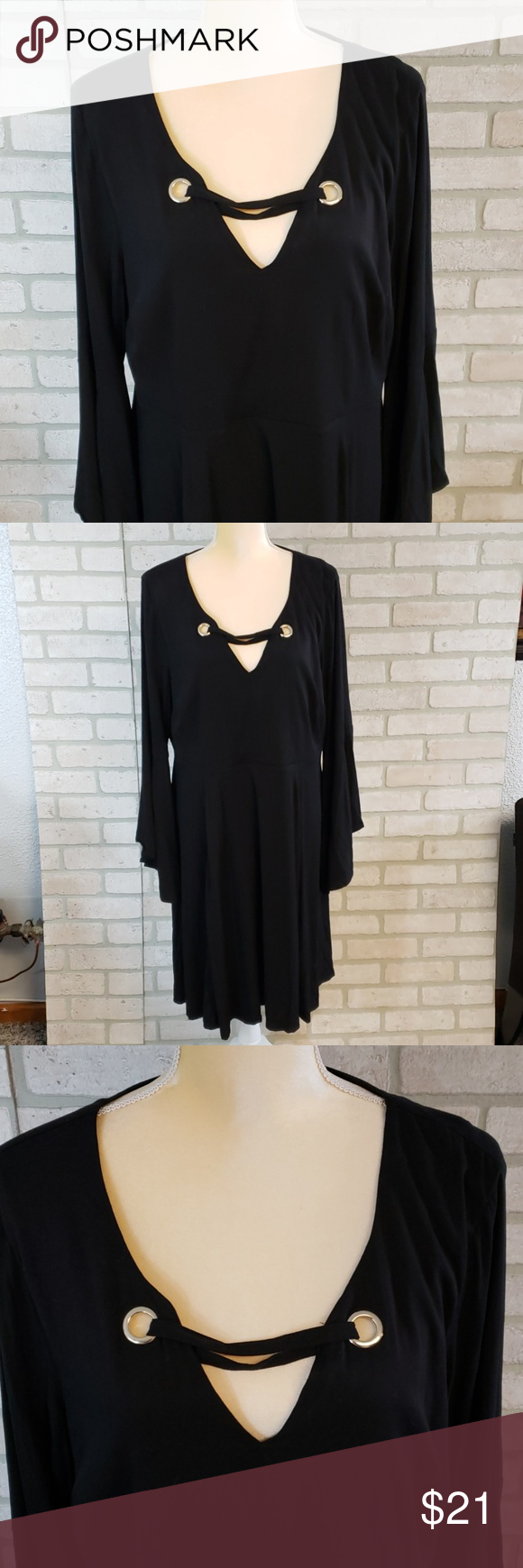 Torrid Amazing Black Dress Size 2 Torrid Back Zip Dress With Gold Accents At The Neck Very Classy Size 2 Gently Used To Black Dress Torrid Dresses Torrid [ 1740 x 580 Pixel ]