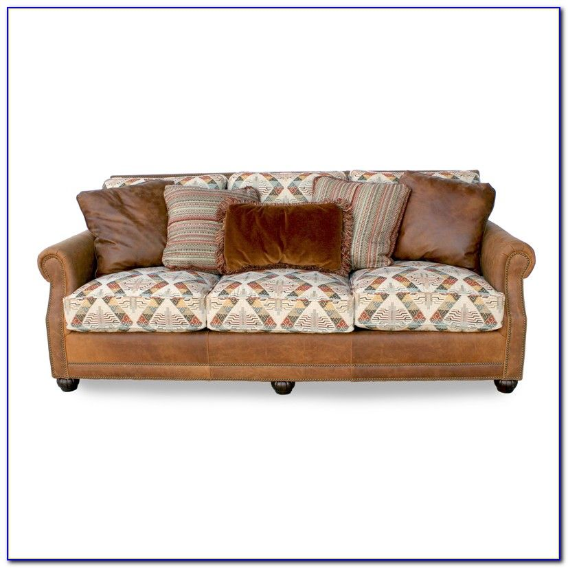 Fabric And Leather Combination Sofa Fabric Leather Sofa With ...