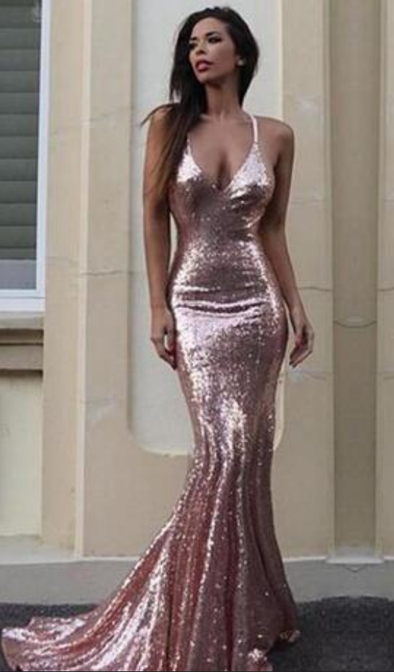 b73d58b2d393 Gorgeous Mermaid V-Neck Prom Dress Light Pink Sequins #prom #promdress # dress #eveningdress #evening #fashion #love #shopping #art #dress #women  #mermaid ...