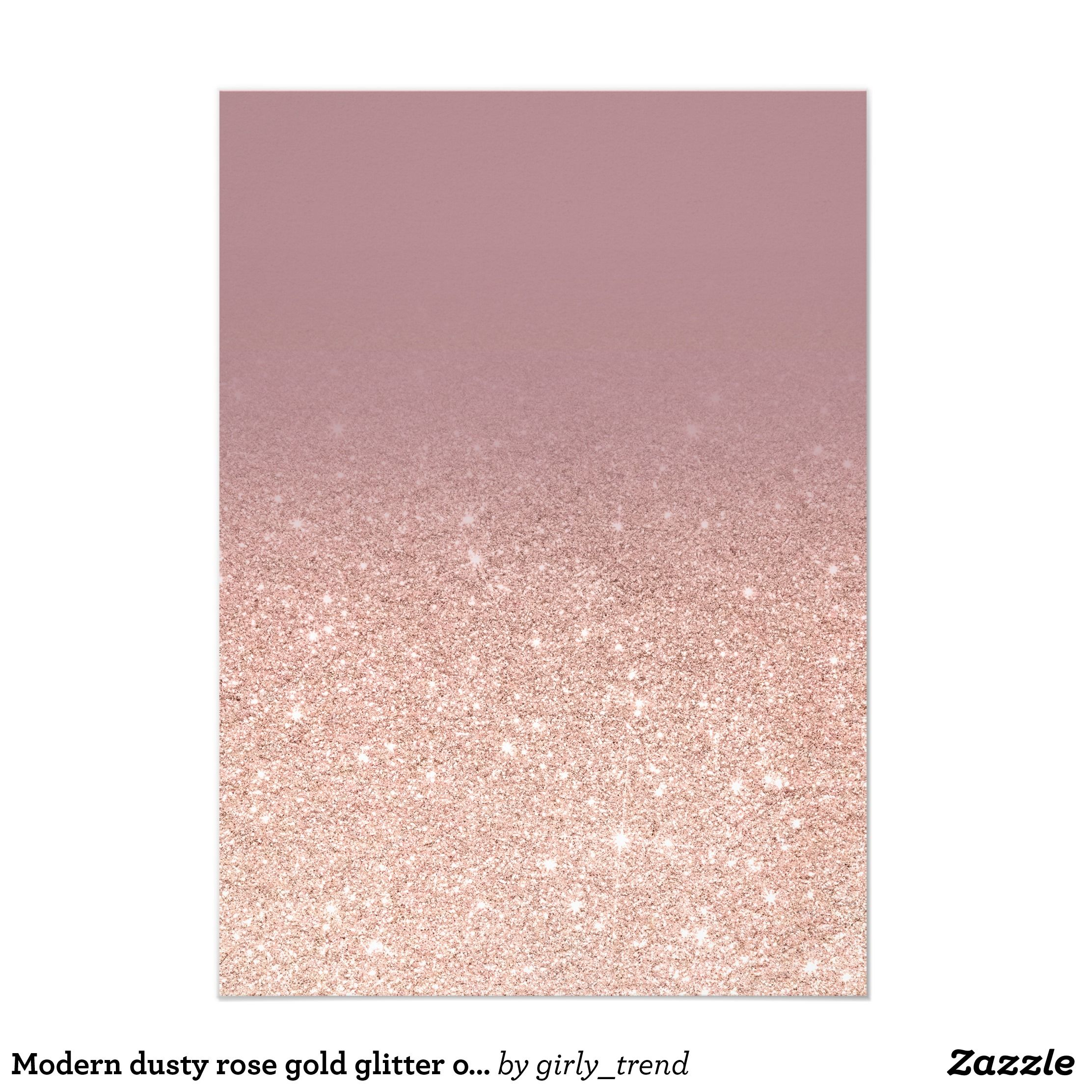 Modern Dusty Rose Gold Glitter Ombre Sweet 16 Invitation Zazzle Com Rose Gold Backgrounds Rose Gold Color Palette Pink And Gold Background