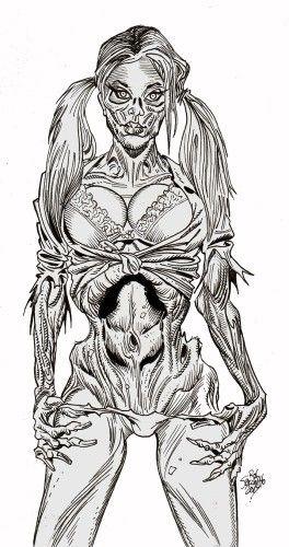 zombie pinup diva 110 | Rob Sacchetto\'s Zombie Art | Pinterest ...