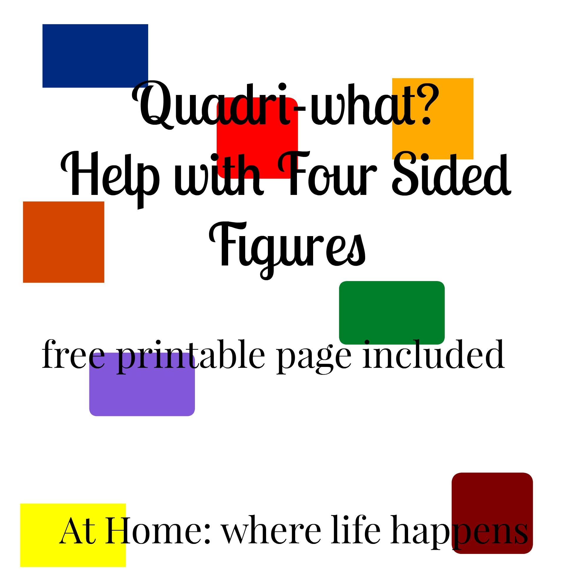 Quadri What Help With Four Sided Figures