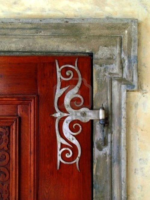 Ornate Door Hinge Porte Fenetre Decoration Vieilles Portes