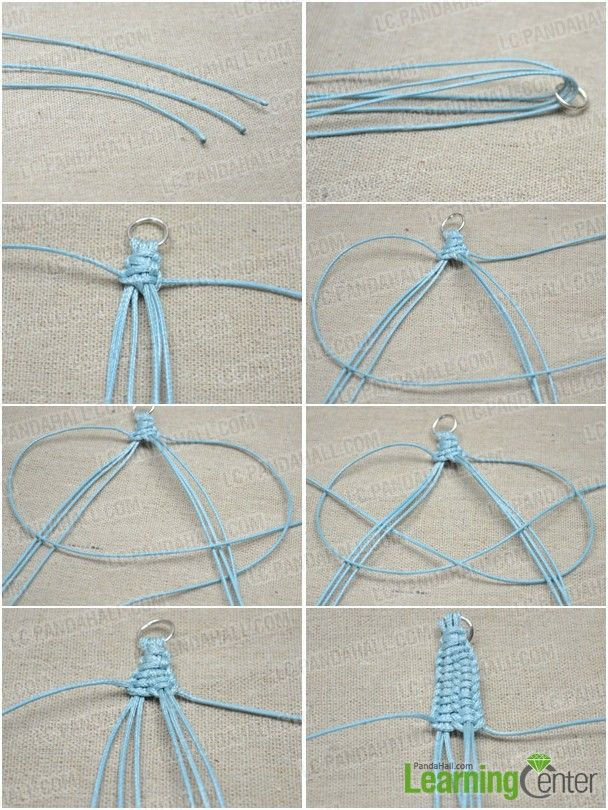 How To Make A Lanyard Bracelet With 4 Strings Bracelets Bangles