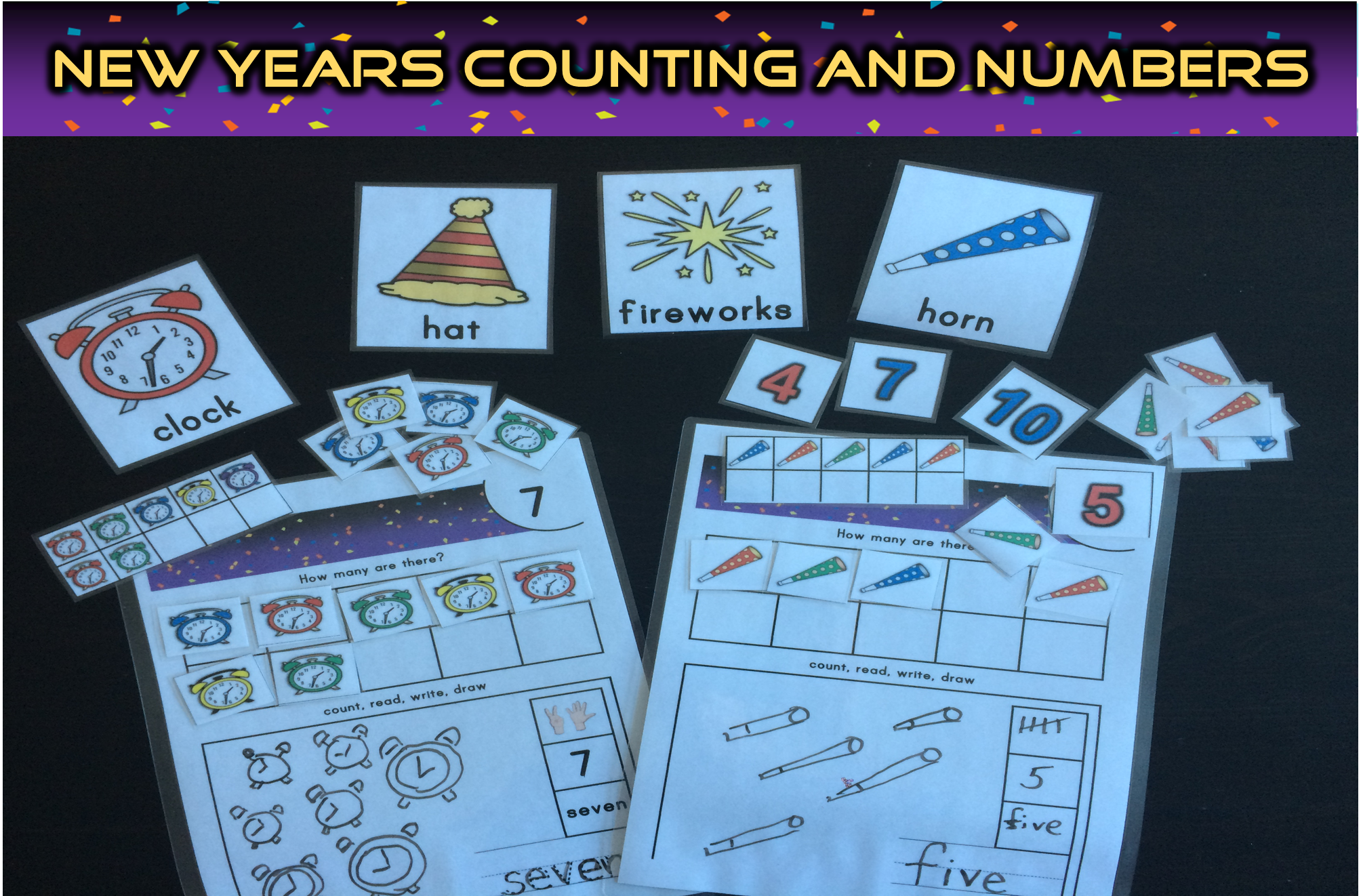 New Years Numbers Counting Activities