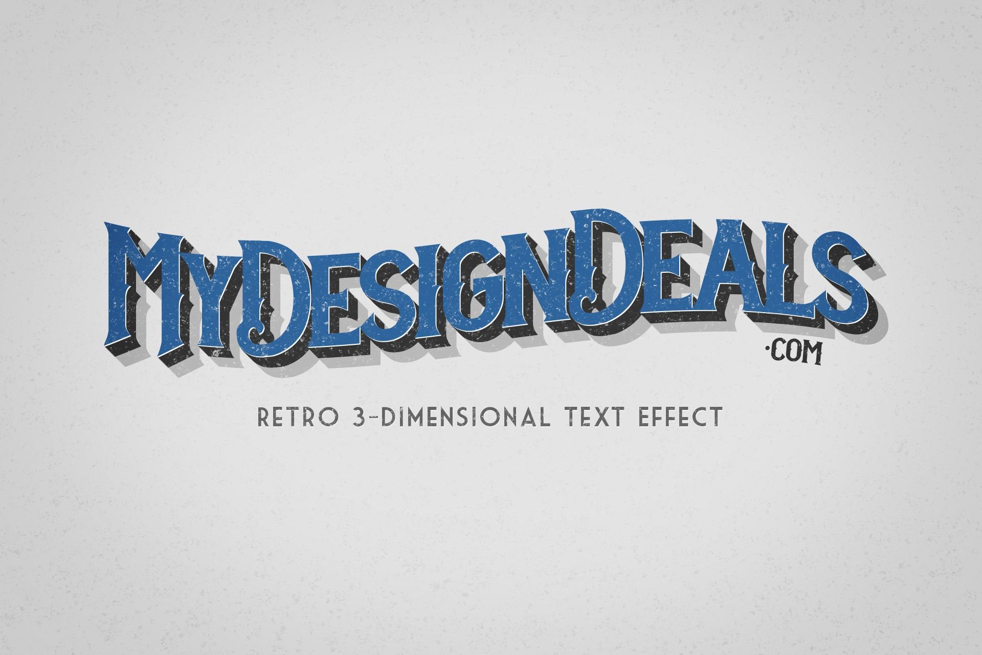 How to create a retro 3 dimensional text effect in photoshop retro 3 dimensional text effect photoshop tutorial from my design deals baditri Image collections