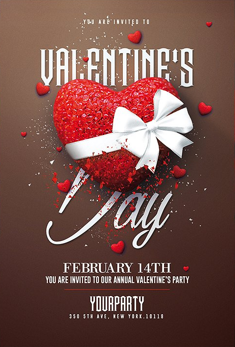 Valentine S Day Psd Invitation Valentines Creative Flyers Happy Valentines Day