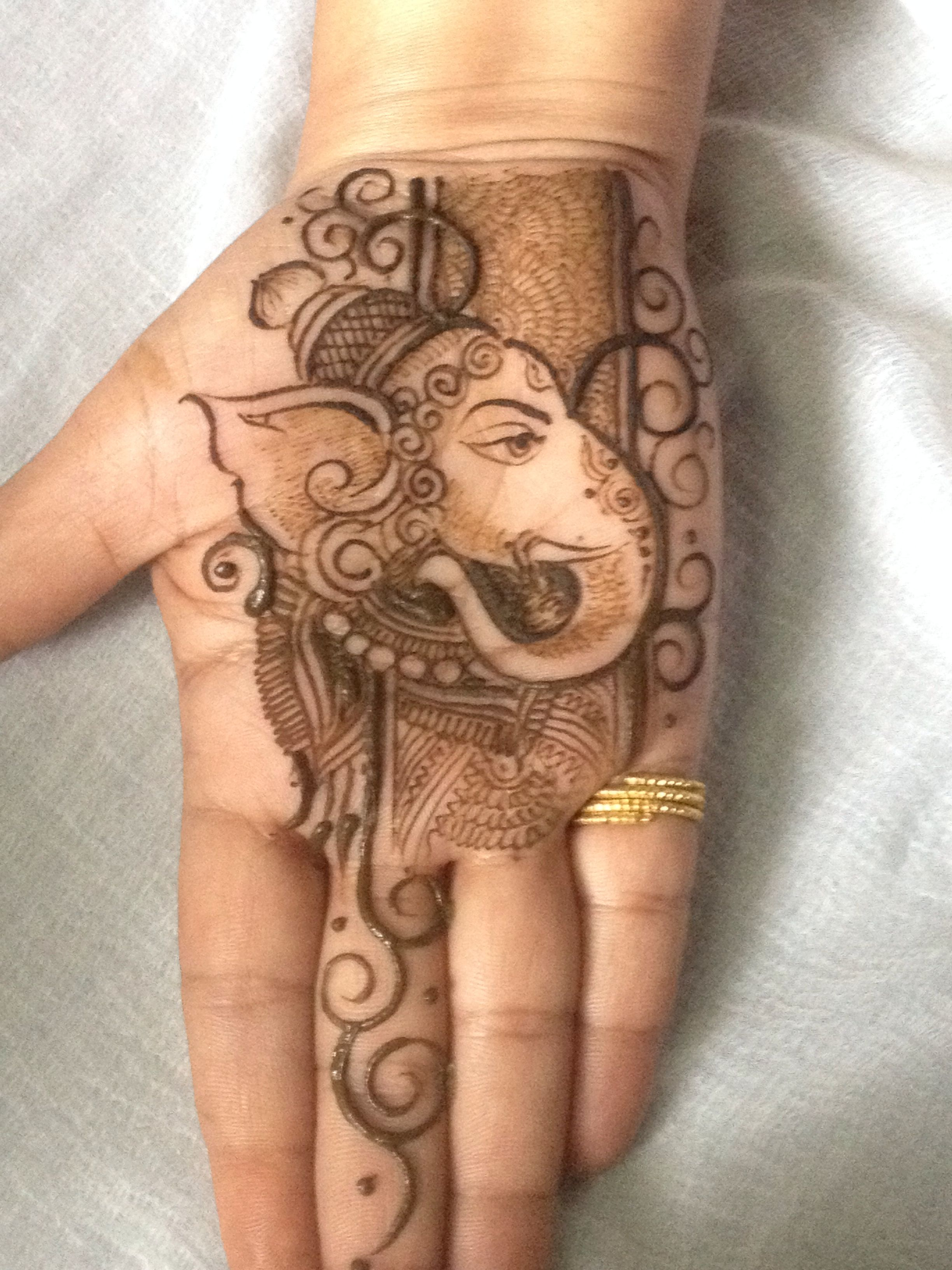 4541ec1c7 Ganesha with mehndi | Henna | Palm mehndi design, Mehndi designs ...