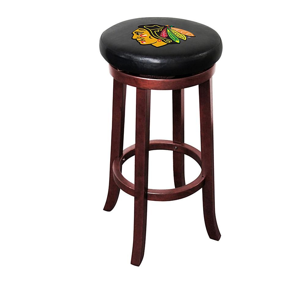Officially licensed nhl wooden bar stool chicago blackhawks