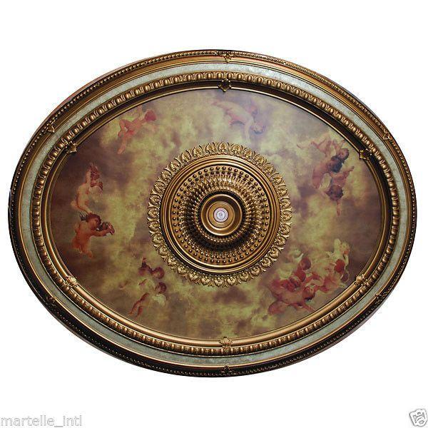 Oval Ceiling Medallion Sistine Art Large 79 L Renaissance Cathedral New Fshp Ceiling Medallions Sistine Chapel Ceiling Art