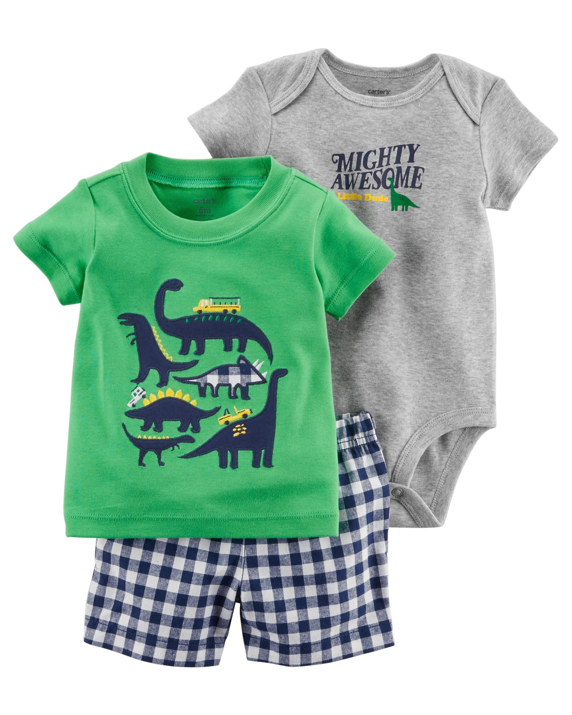10fdb33bc 3-Piece Little Short Set | Baby clothes | Kids clothes sale, Carters ...