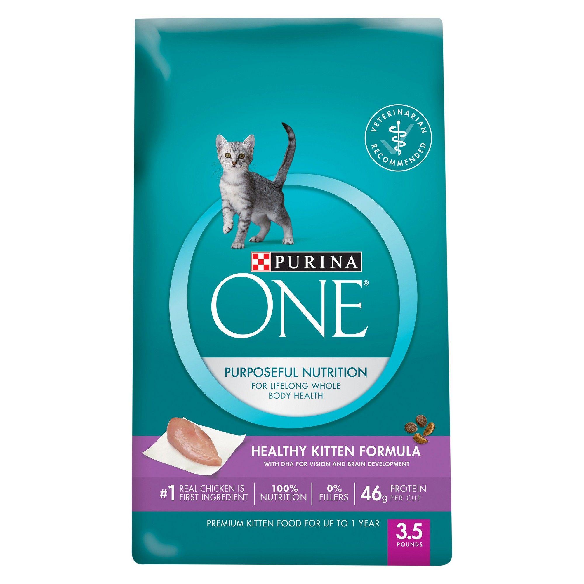 Purina One Healthy Kitten Formula Premium Dry Cat Food 3 5lbs Kitten Food Best Cat Food Cat Food