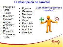 Resultado De Imagen De Vocabulario Personalidad Espanol