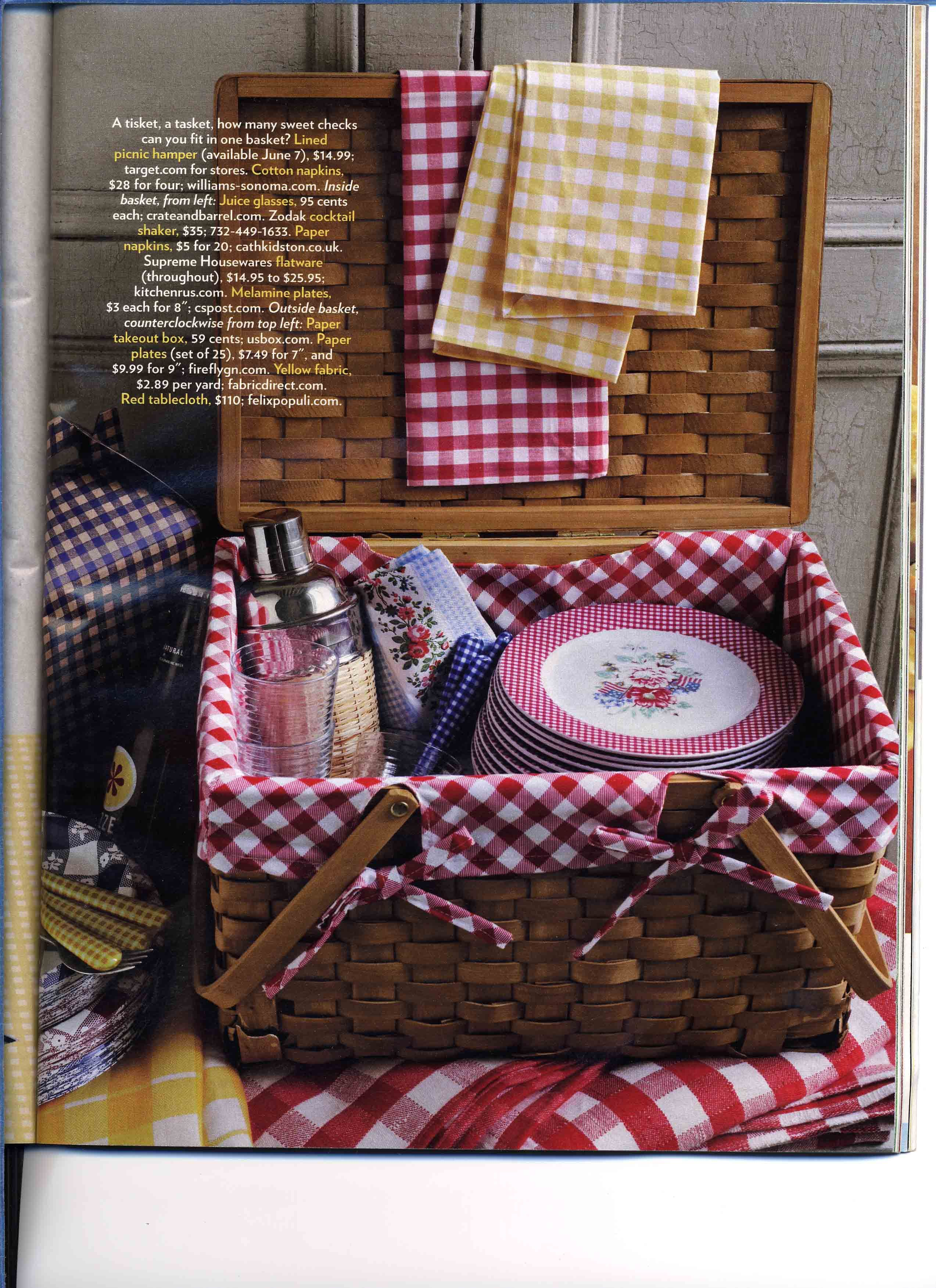 Suzanna's got some picnic baskets we can use for interesting containers for silverware, hand fans, favors, anything!