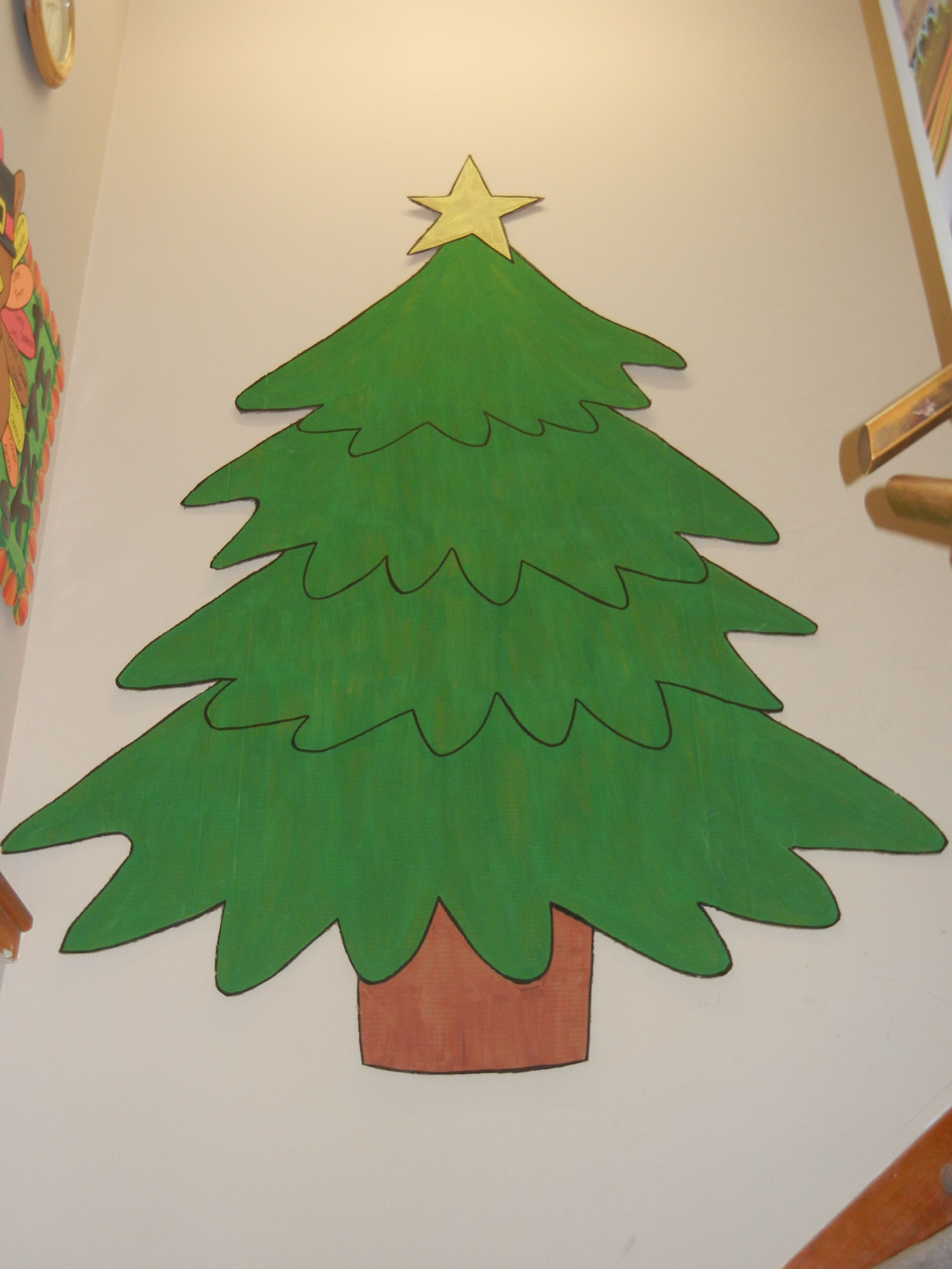 Hallway Decor When One Teaches Two Learn Paper Christmas Tree Christmas Xmas Decorations