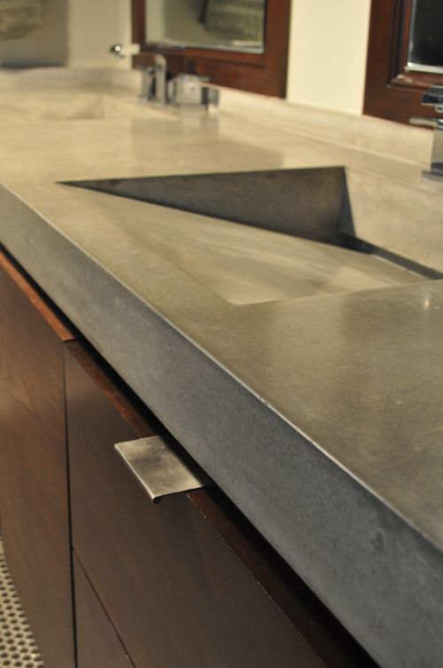 Concrete Sink Double Ramp Concrete Sink Concrete Kitchen Diy