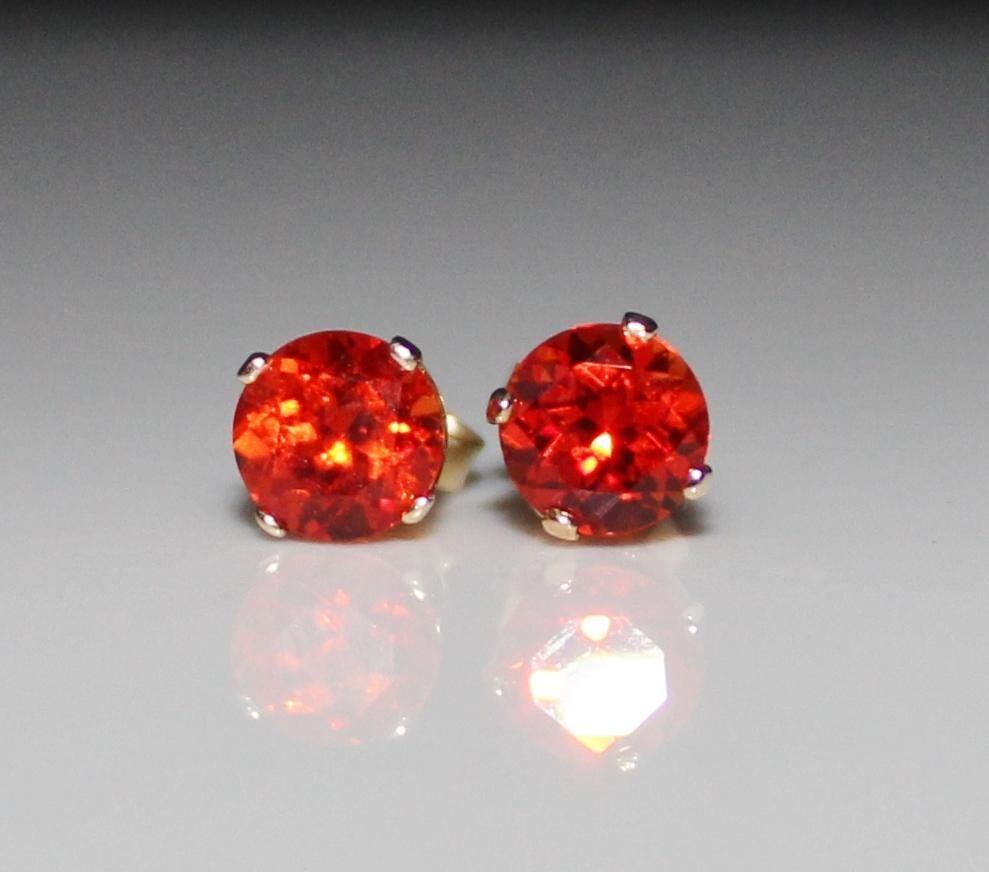 orange eco padparadscha earrings friendly sapphire jewelry dark chatham aide products