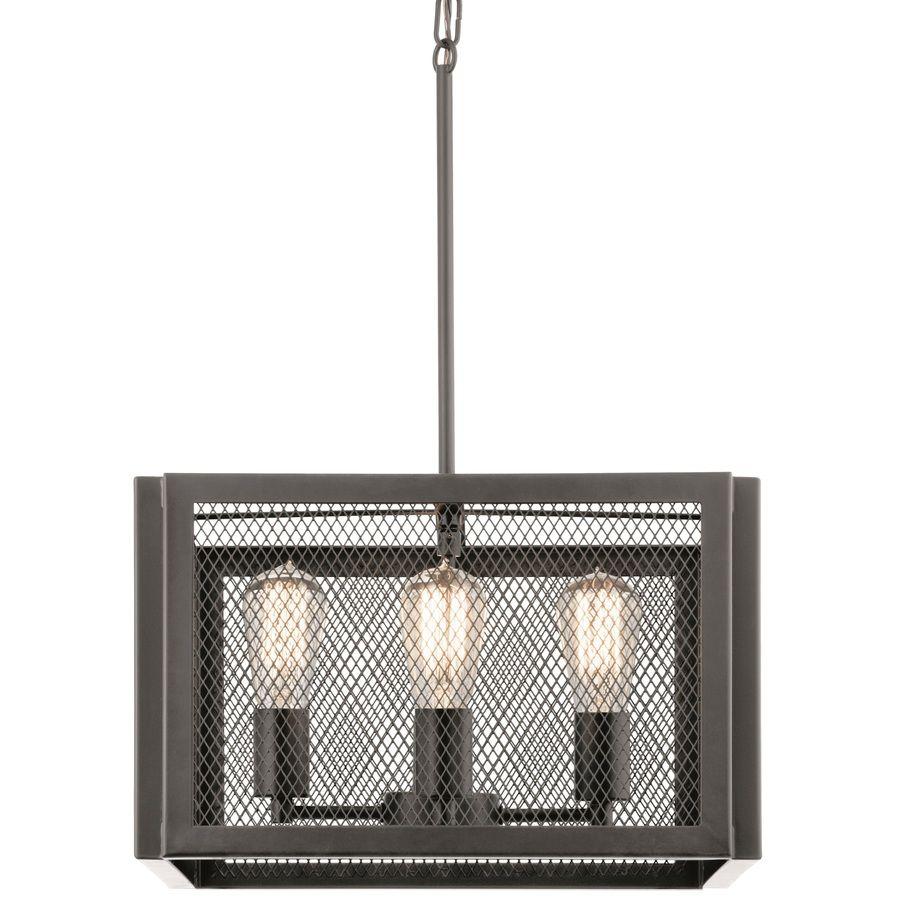 Kichler Lighting Saybridge 16 In Bronze Industrial Single Cage Pendant