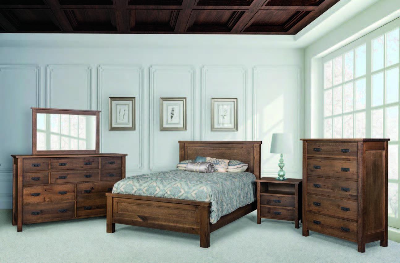 Regent Master Bedroom Panel Bed E S Wood Creations Ervin Suella Miller Shown In Rustic Quarter Sawn White Oak With Furniture Bedroom Furniture Bedroom Panel