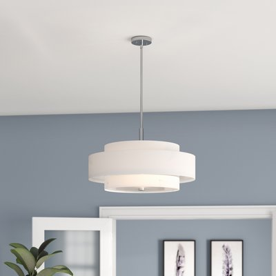 Ivy Bronx Alina 5 Light Unique Statement Drum Chandelier Finish