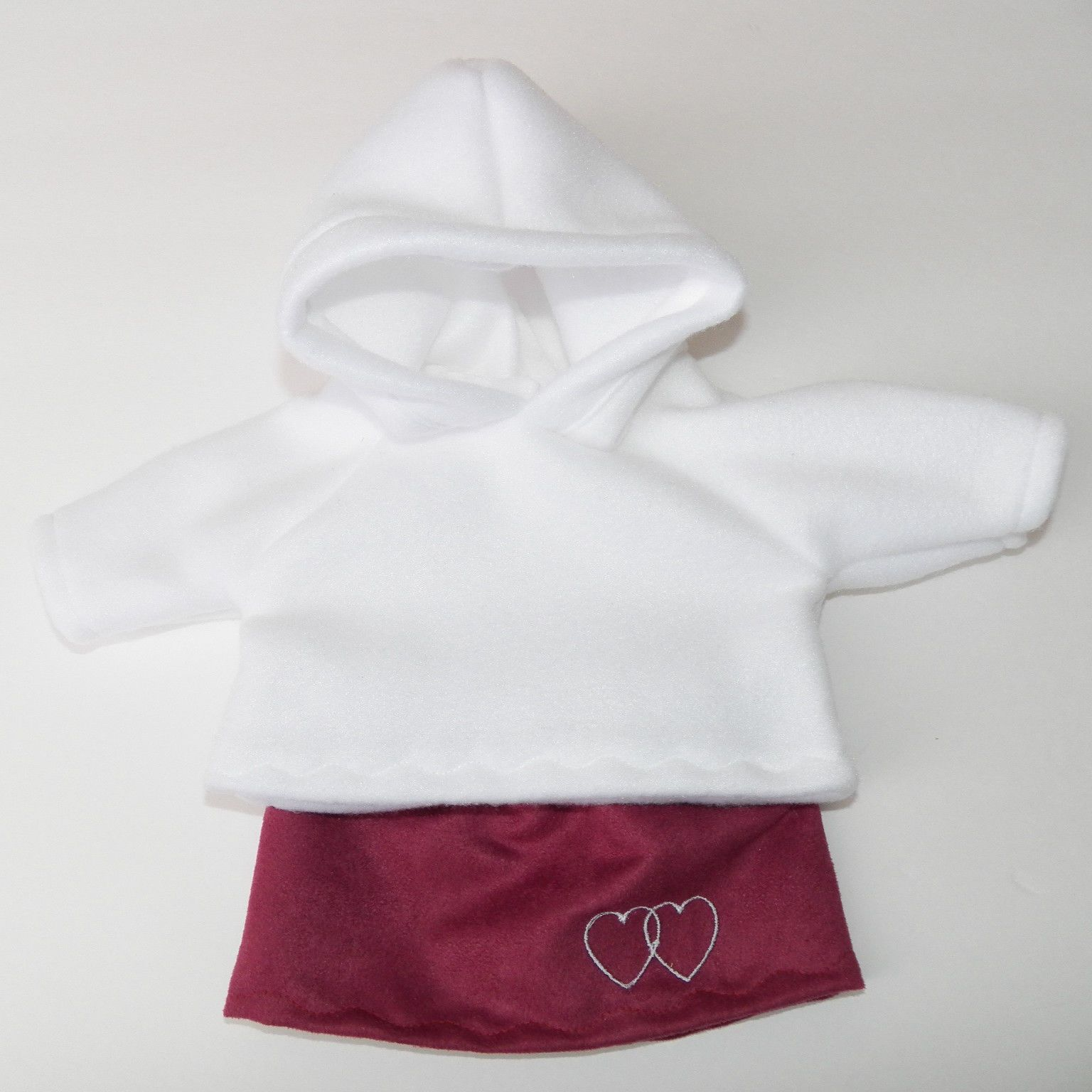 """bitty baby clothes doll girl 15"""" twin handmade hoo hooded pink"""