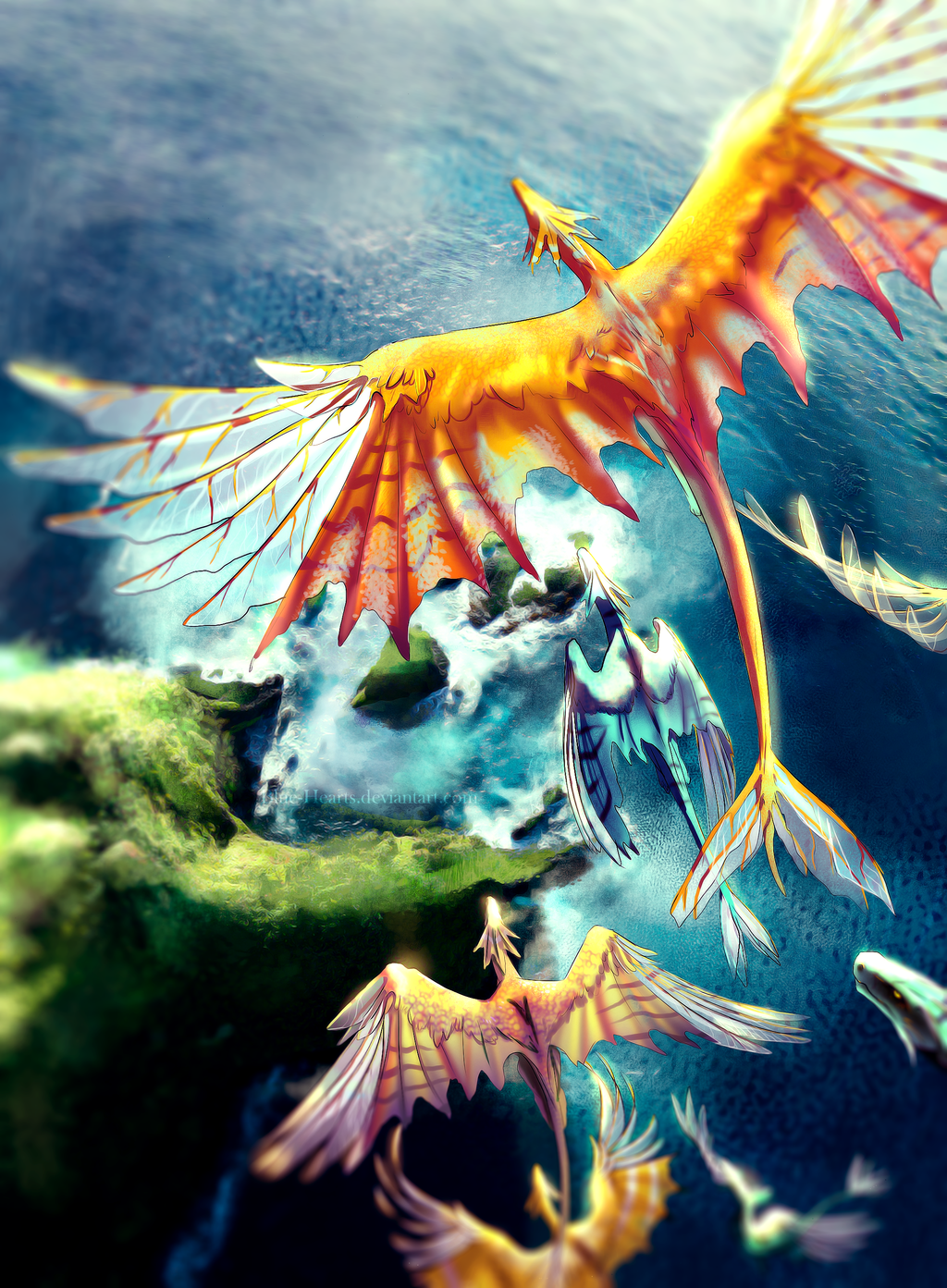 Mythological Dragons: Above By Blue-Hearts.deviantart.com On @DeviantArt