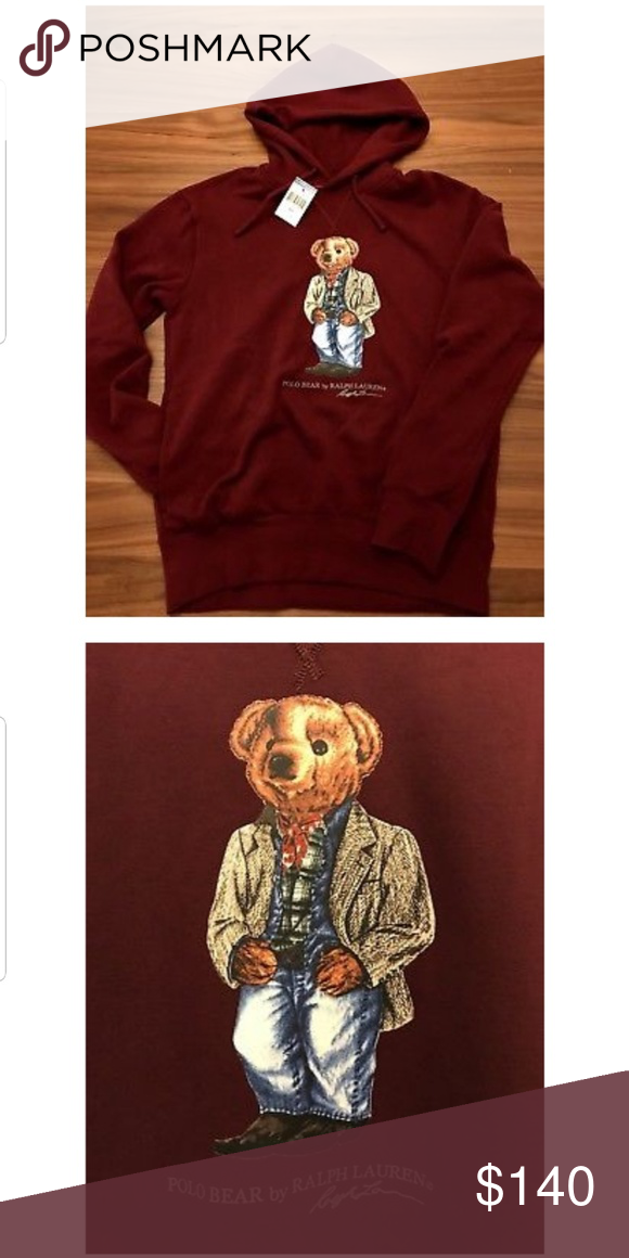 Polo Ralph Lauren Polo Bear Hoodie Men s Burgundy Polo Bear Pullover  hoodie.. More sizes 4abca5c91014