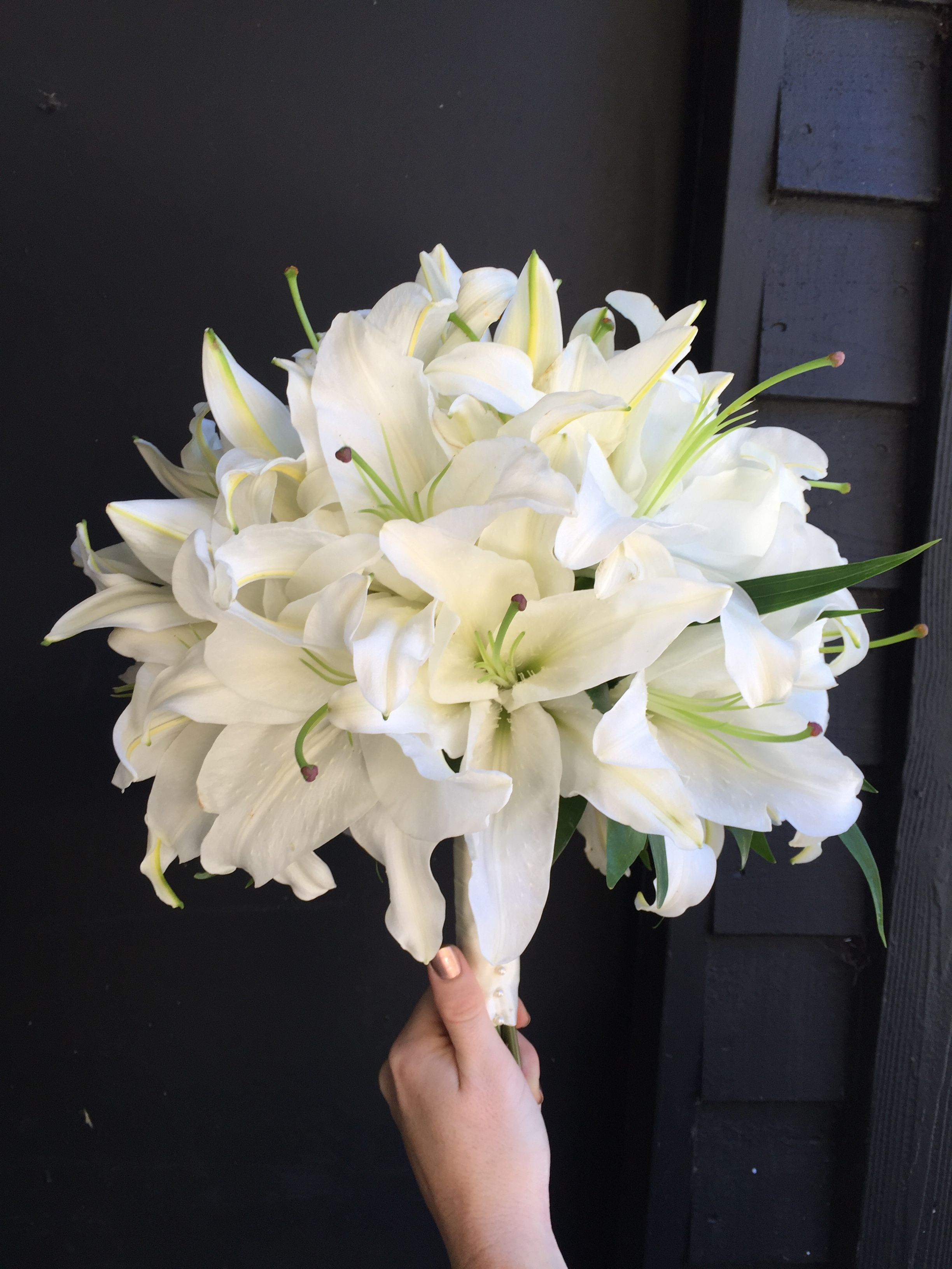 Casa Blanca Lily Bouquet Lily Bouquet Wedding Brides Flowers Bouquet Lilly Bouquet Wedding