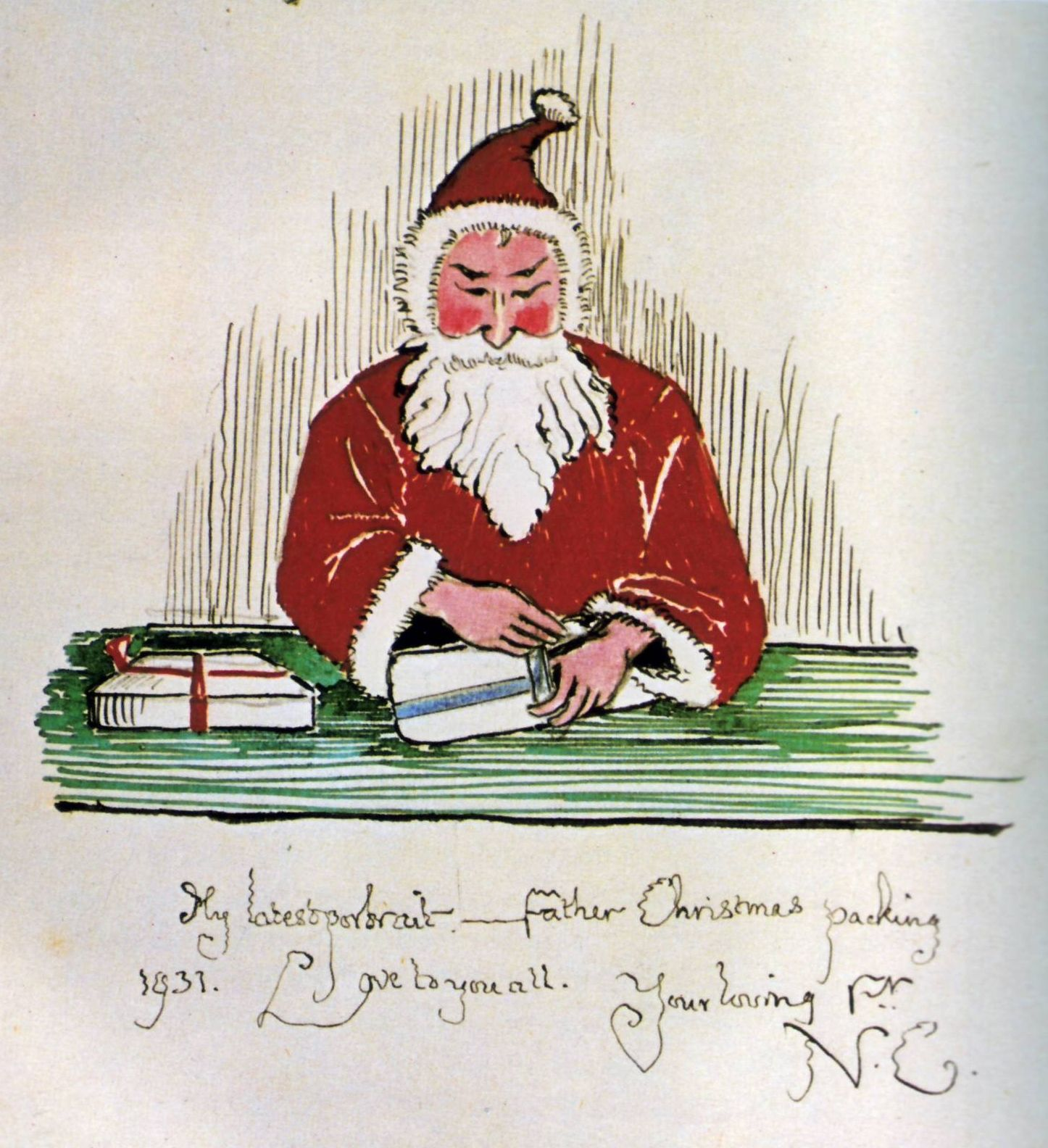Jrr tolkien father christmas 1931 tolkien illustrations 1931 letter from j tolkien to his children every year he would send them a letter from father christmas with an accompanying story and illustrations spiritdancerdesigns Gallery