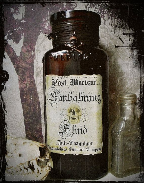 EMBALMING FLUID TO KEEP A DEAD BODY FROM DISINTEGRATING