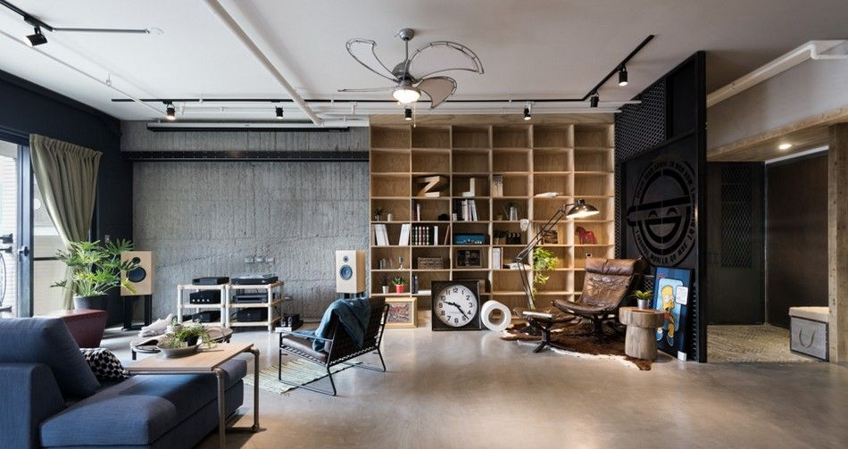 Vintage Industrial Home For A Couple And Their Three Cats In Taiwan