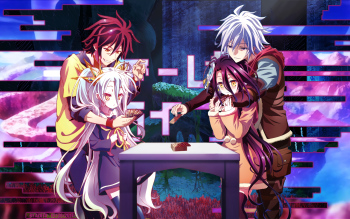 sora and shiro riku and shuvi i know these are two separate pics