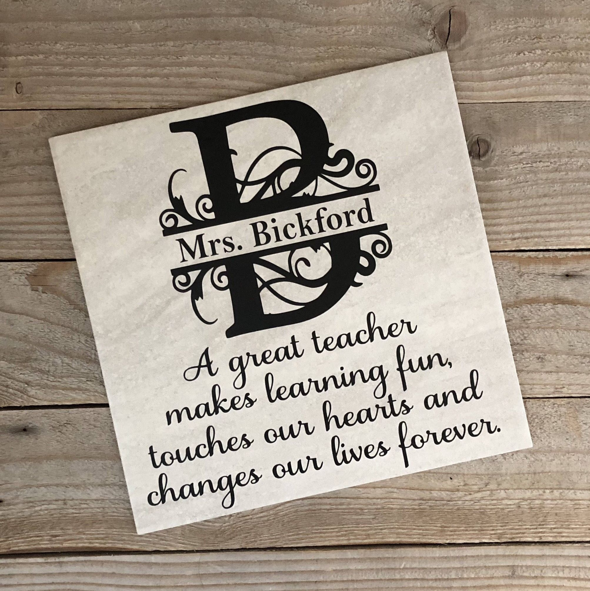 Personalized Teacher Gift, Teacher Gifts, Coach Gift