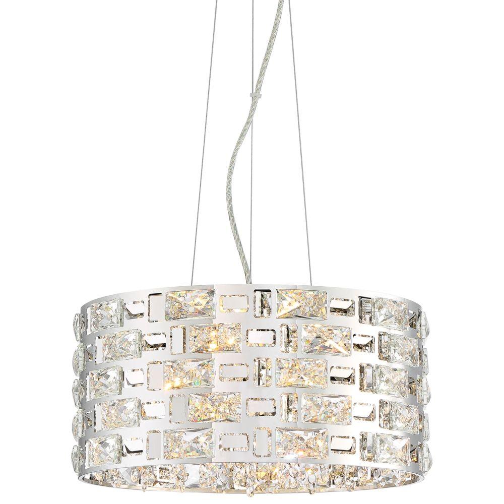 2pcs Modern Crystal LED Ceiling Light Pendant Lamp Lighting Chandelier Fixtures