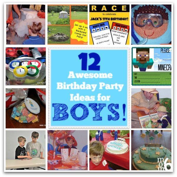 12 Awesome Birthday Party Ideas for Boys Birthday boys Birthday