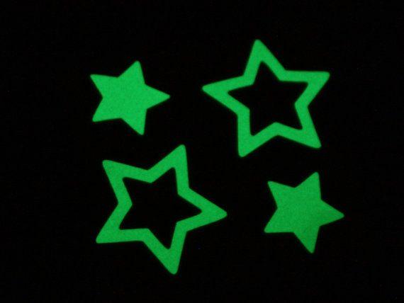 30 double stickers glow in the dark stars