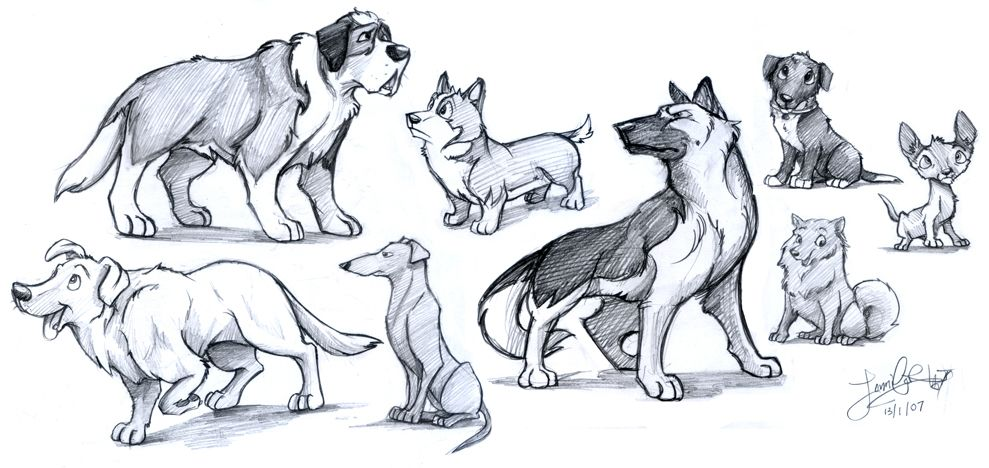 Animated Dogs Cartoon Dog Pictures To Draw Animal Drawings