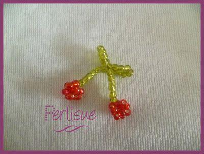 Perlisue: Mini Frutilla y Cereza 3D