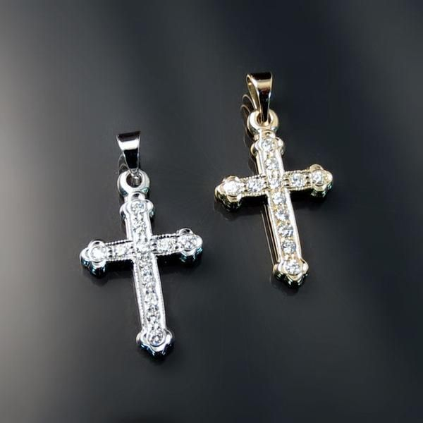 Jewels Obsession Cross Necklace Nicholass Cross Pendant with 18 Necklace 14K Yellow Gold-plated 925 Silver St