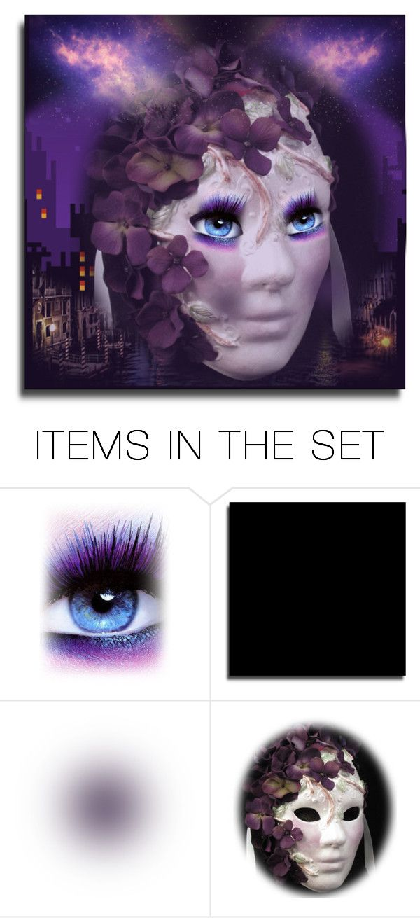 """""""Purple Masquerade"""" by victorianheaven ❤ liked on Polyvore featuring art"""