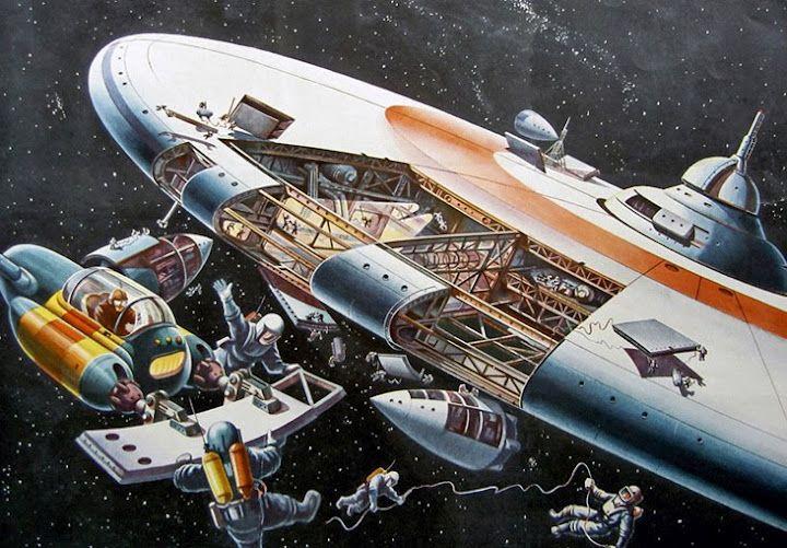 Vintage Retro-Future Space image (source: 1950's Russia)