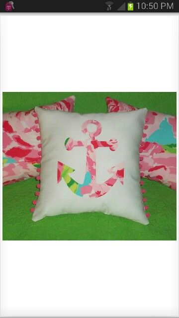 Lilly Pulitzer pillow Bought it for ToriBelles room cant wait